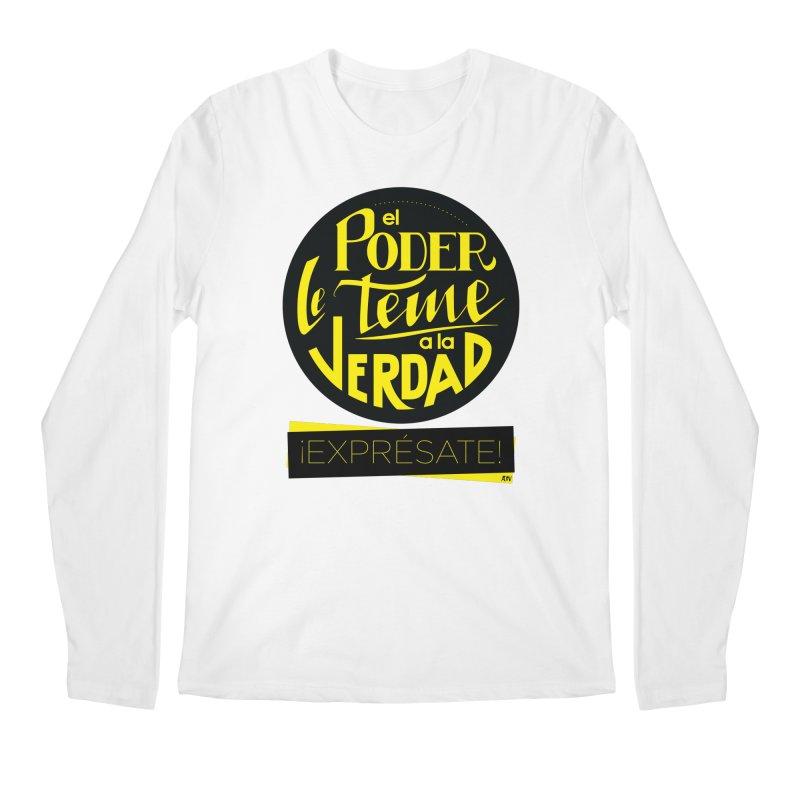 El poder le teme a la verdad Men's Regular Longsleeve T-Shirt by Andrea Garrido V - Shop