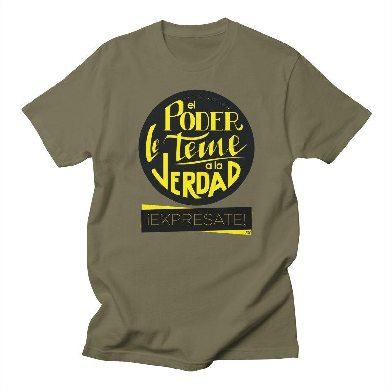 El poder le teme a la verdad Men's Regular T-Shirt by Andrea Garrido V - Shop