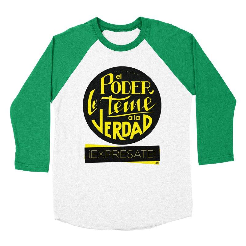 El poder le teme a la verdad Men's Baseball Triblend Longsleeve T-Shirt by Andrea Garrido V - Shop