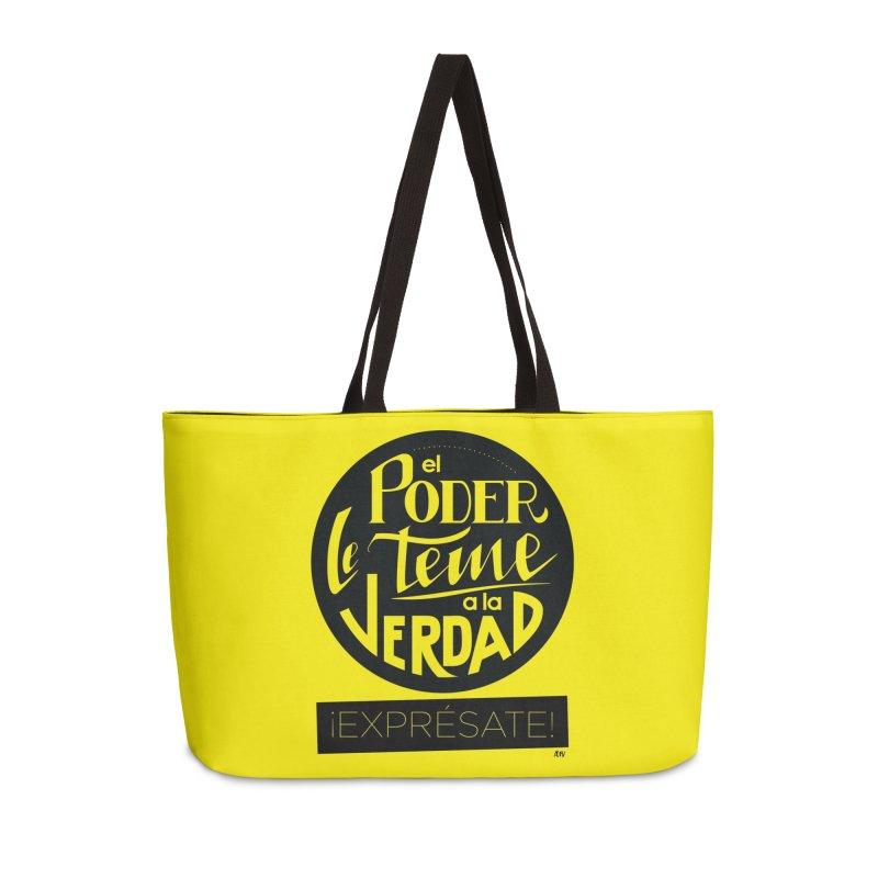 El poder le teme a la verdad Accessories Weekender Bag Bag by Andrea Garrido V - Shop