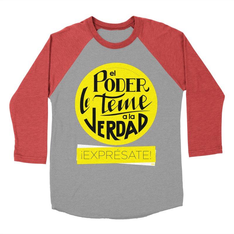 El poder le teme a la verdad - Fondo oscuro - Venezuela Men's Longsleeve T-Shirt by Andrea Garrido V - Shop