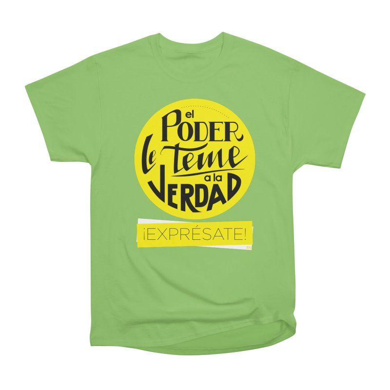 El poder le teme a la verdad - Fondo oscuro - Venezuela Women's Heavyweight Unisex T-Shirt by Andrea Garrido V - Shop