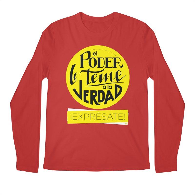 El poder le teme a la verdad - Fondo oscuro - Venezuela Men's Regular Longsleeve T-Shirt by Andrea Garrido V - Shop