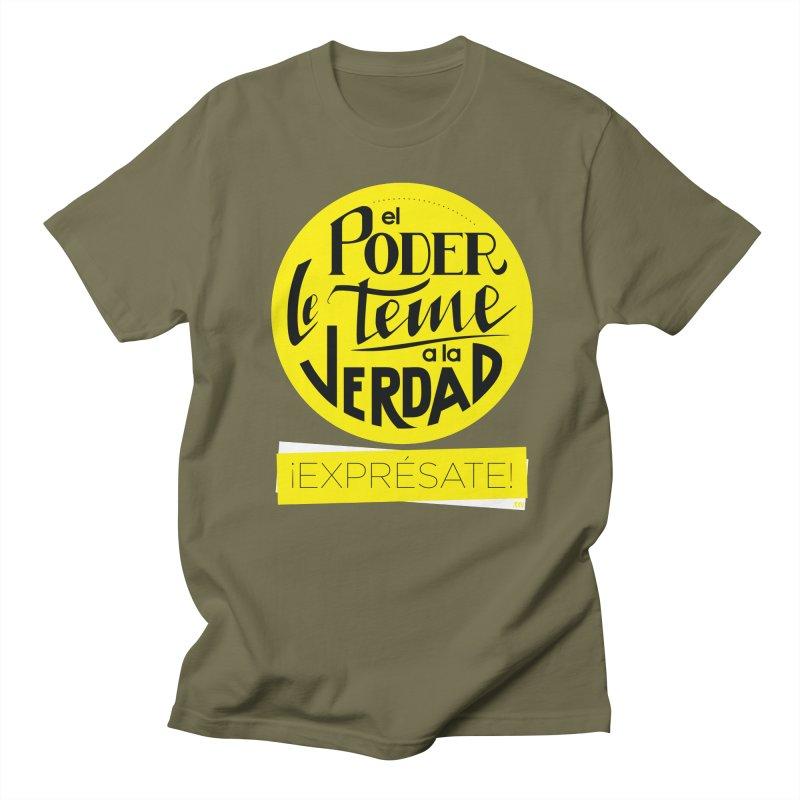 El poder le teme a la verdad - Fondo oscuro - Venezuela Women's Regular Unisex T-Shirt by Andrea Garrido V - Shop