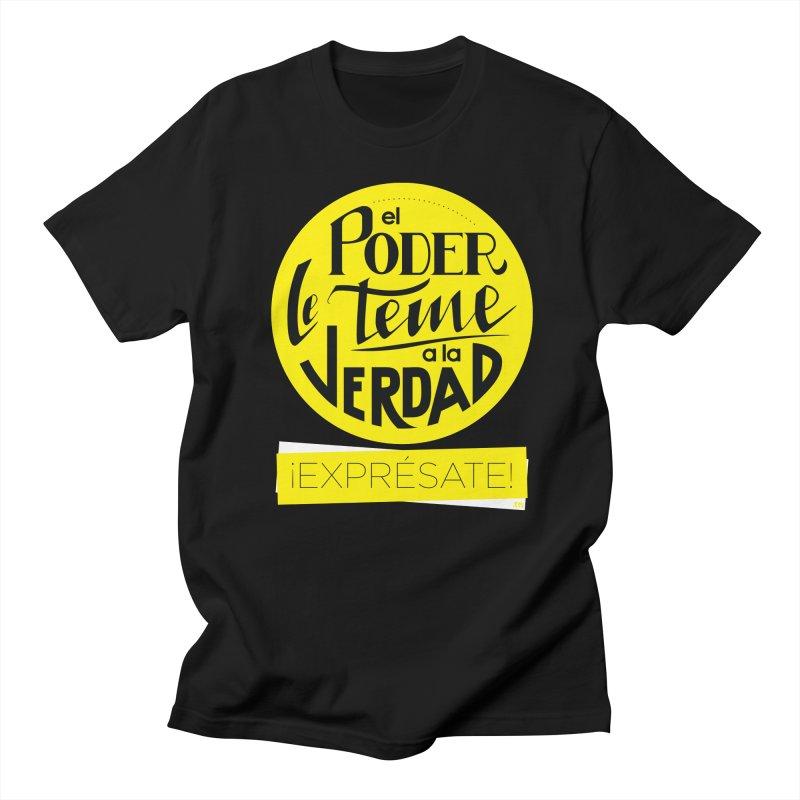 El poder le teme a la verdad - Fondo oscuro - Venezuela Men's T-Shirt by Andrea Garrido V - Shop