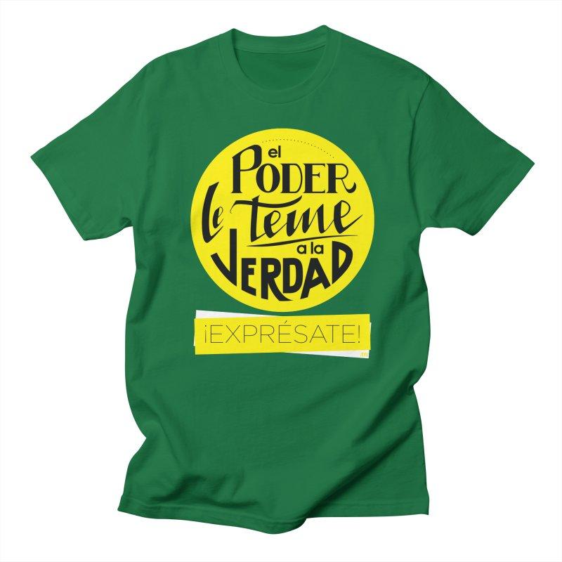 El poder le teme a la verdad - Fondo oscuro - Venezuela Men's Regular T-Shirt by Andrea Garrido V - Shop