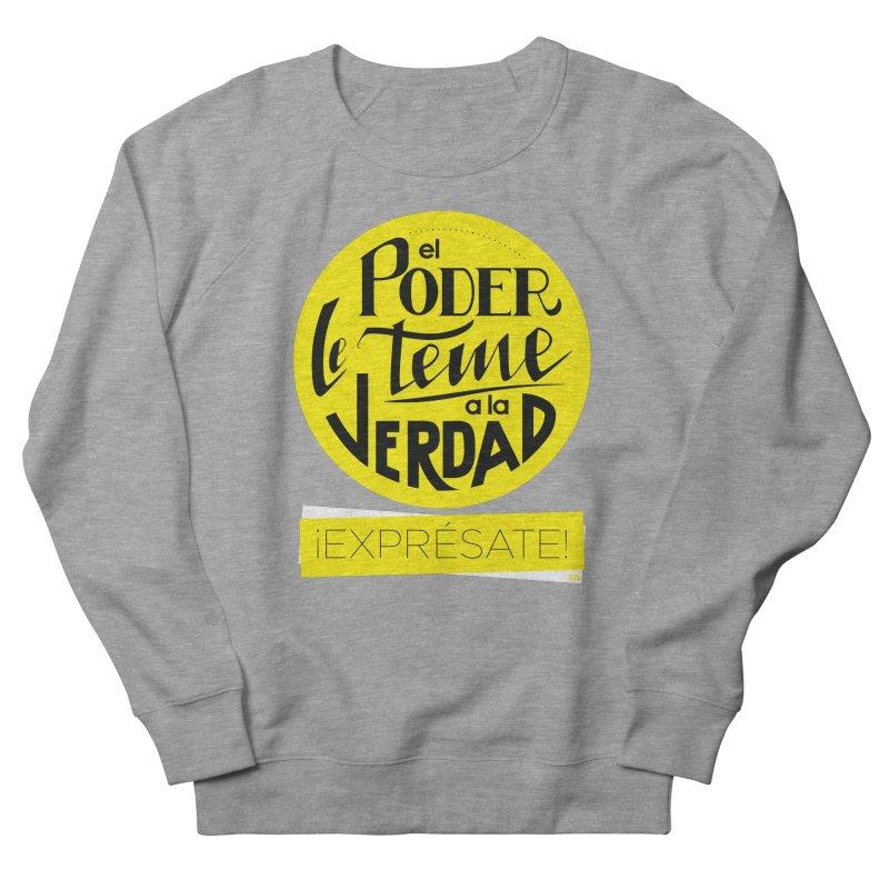El poder le teme a la verdad - Fondo oscuro - Venezuela Men's French Terry Sweatshirt by Andrea Garrido V - Shop