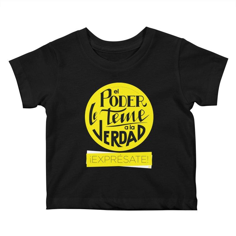El poder le teme a la verdad - Fondo oscuro - Venezuela Kids Baby T-Shirt by Andrea Garrido V - Shop