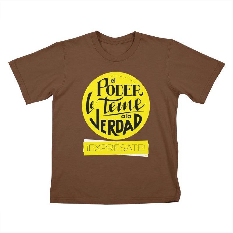 El poder le teme a la verdad - Fondo oscuro - Venezuela Kids T-Shirt by Andrea Garrido V - Shop