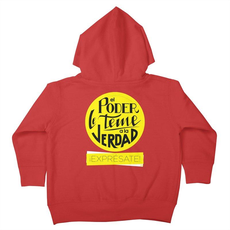 El poder le teme a la verdad - Fondo oscuro - Venezuela Kids Toddler Zip-Up Hoody by Andrea Garrido V - Shop