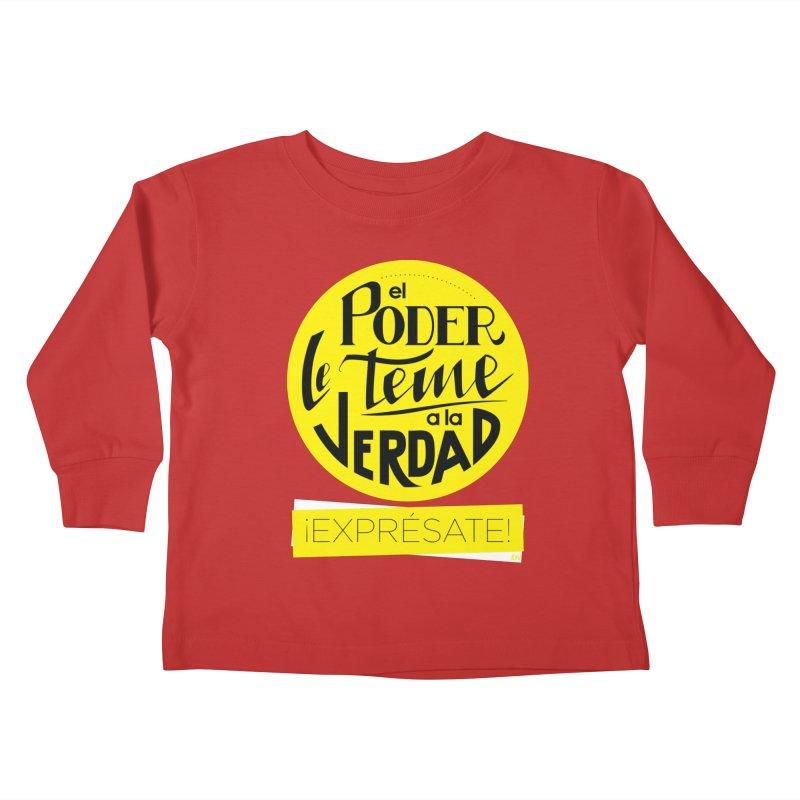 El poder le teme a la verdad - Fondo oscuro - Venezuela Kids Toddler Longsleeve T-Shirt by Andrea Garrido V - Shop