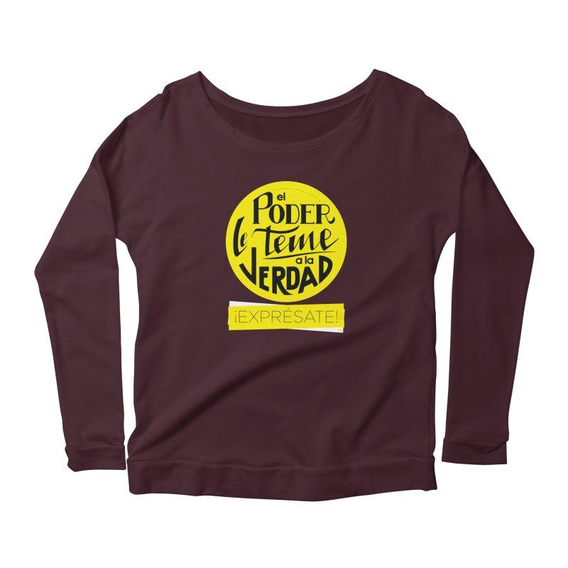 El poder le teme a la verdad - Fondo oscuro - Venezuela Women's Longsleeve T-Shirt by Andrea Garrido V - Shop