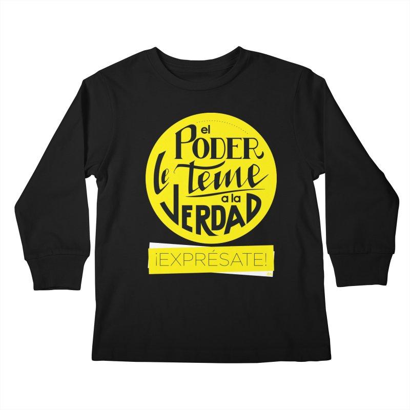 El poder le teme a la verdad - Fondo oscuro - Venezuela Kids Longsleeve T-Shirt by Andrea Garrido V - Shop