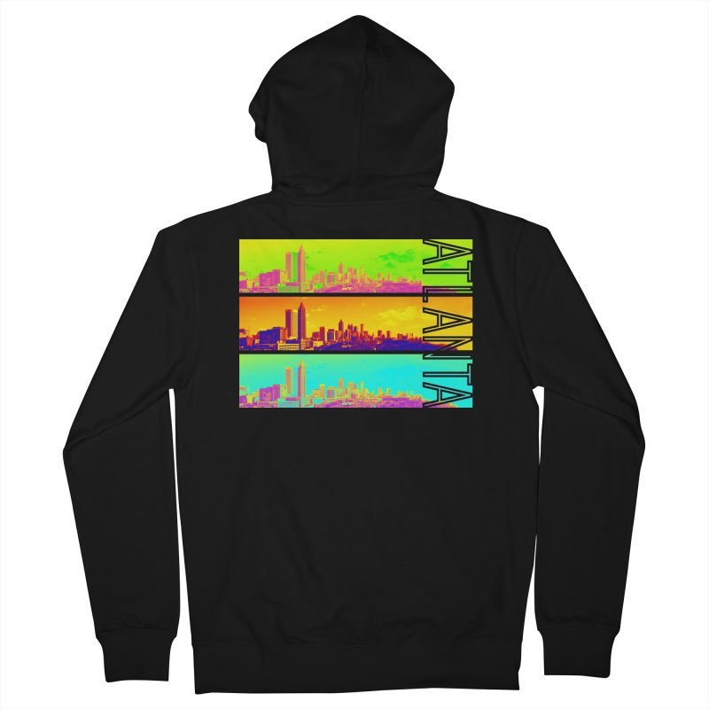 Atlanta colors Men's French Terry Zip-Up Hoody by Andrea Garrido V - Shop