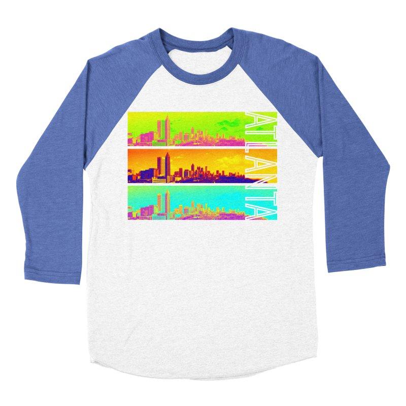 Atlanta colors Women's Baseball Triblend Longsleeve T-Shirt by Andrea Garrido V - Shop