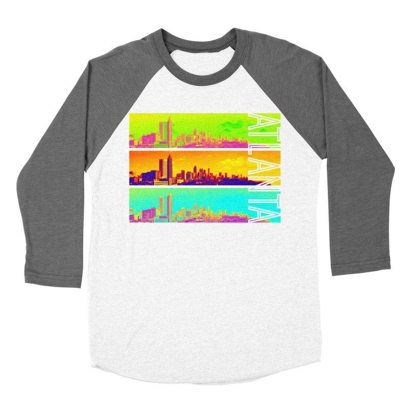 Atlanta colors Men's Baseball Triblend Longsleeve T-Shirt by Andrea Garrido V - Shop