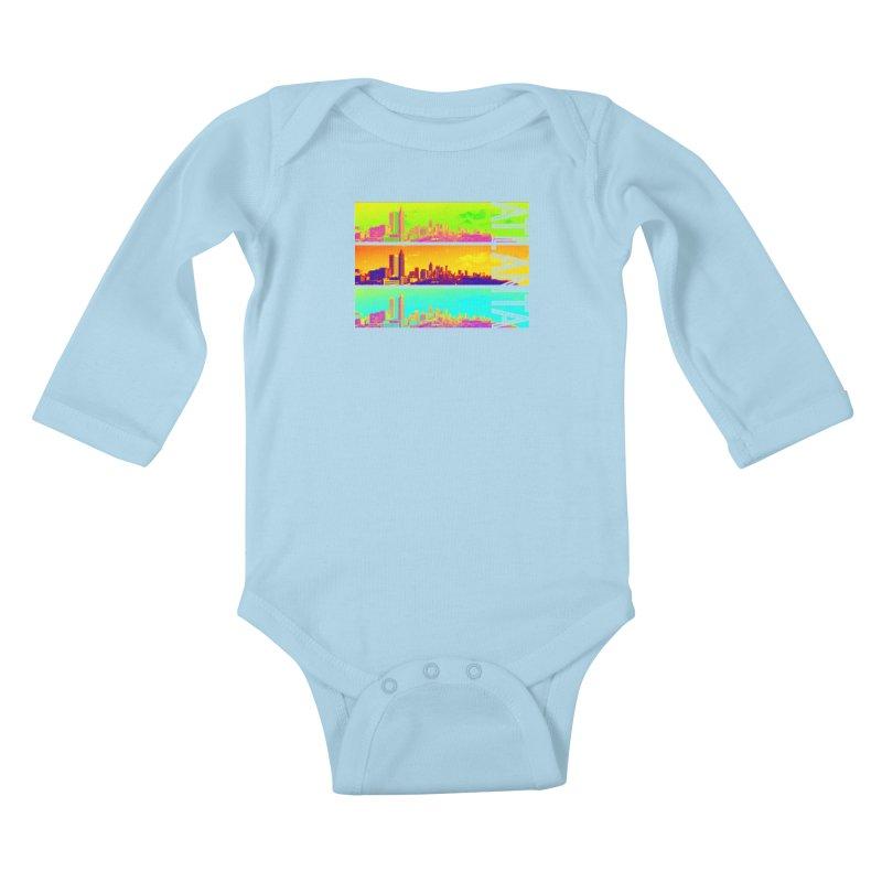 Atlanta colors Kids Baby Longsleeve Bodysuit by Andrea Garrido V - Shop
