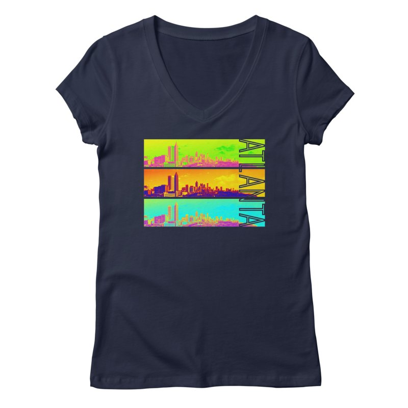 Atlanta colors Women's Regular V-Neck by Andrea Garrido V - Shop