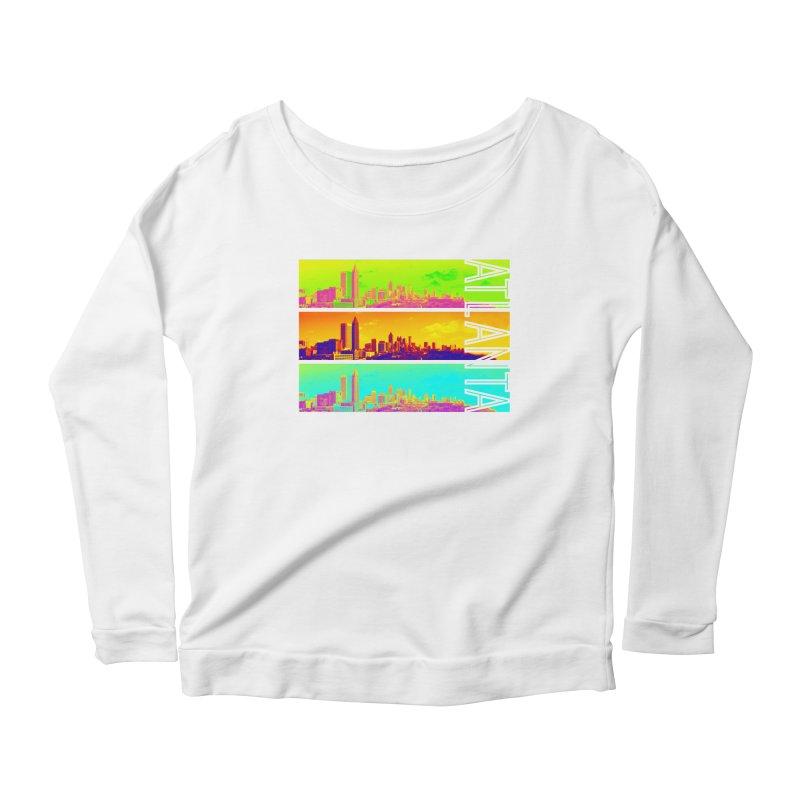 Atlanta colors Women's Scoop Neck Longsleeve T-Shirt by Andrea Garrido V - Shop