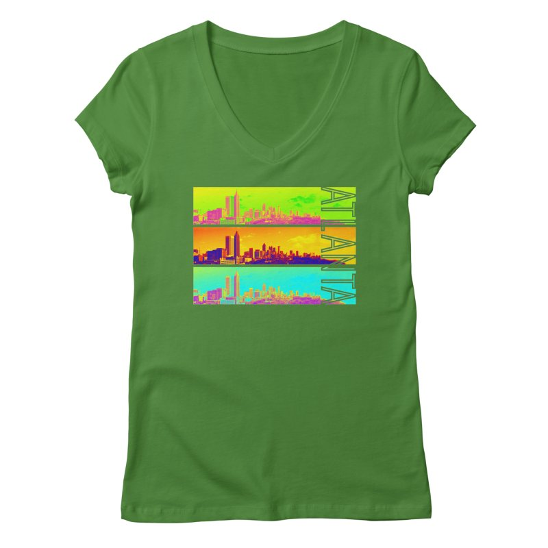 Atlanta colors Women's Regular V-Neck by Andrea Garrido V - Shop