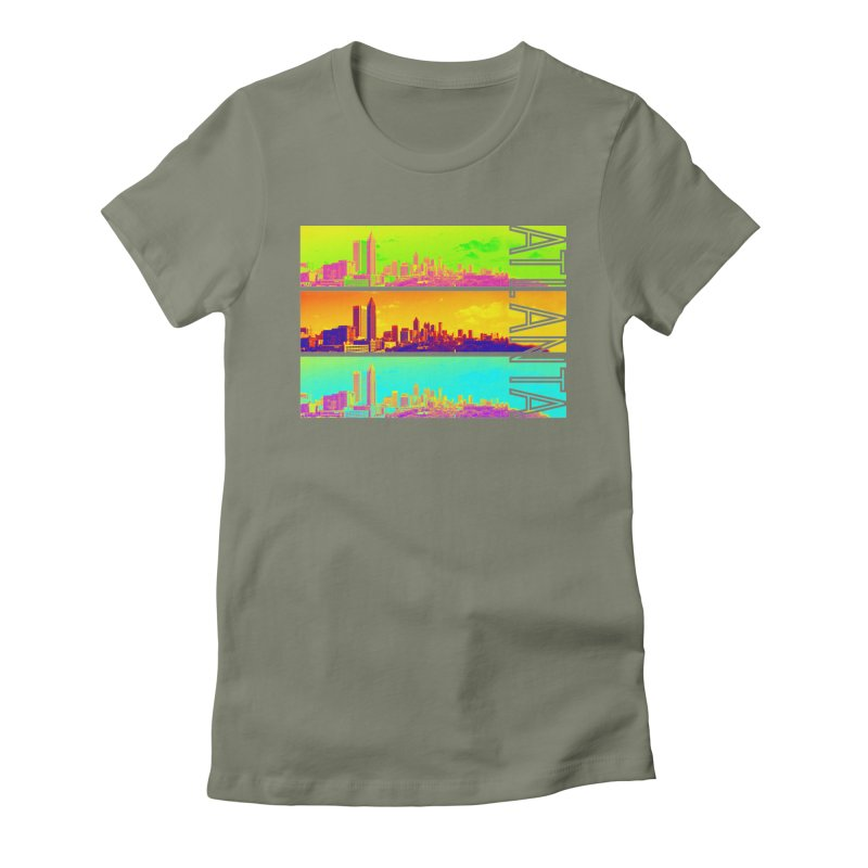 Atlanta colors Women's Fitted T-Shirt by Andrea Garrido V - Shop