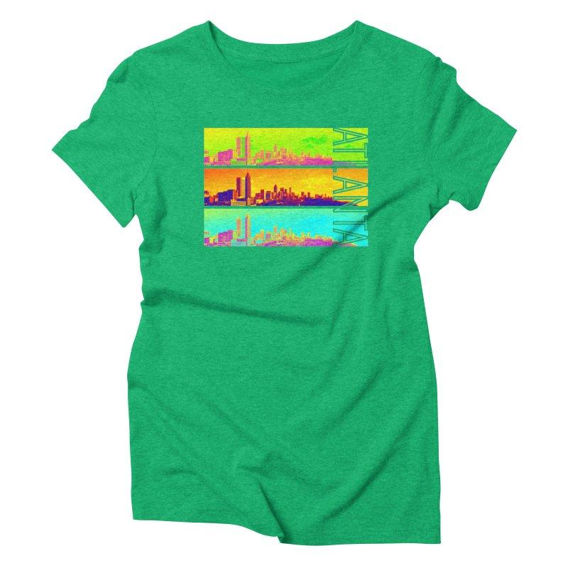 Atlanta colors Women's Triblend T-Shirt by Andrea Garrido V - Shop