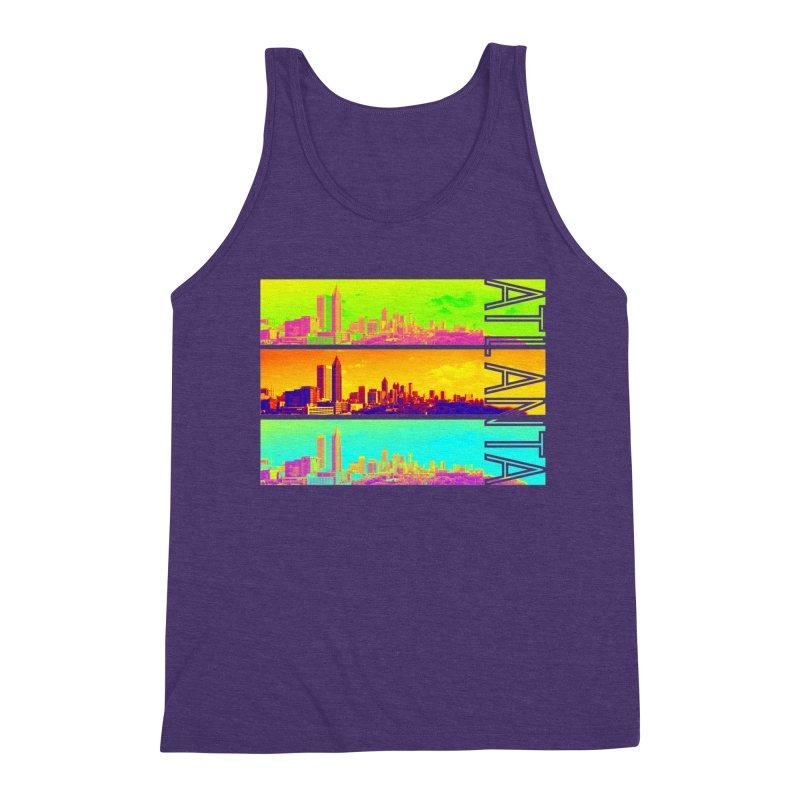 Atlanta colors Men's Triblend Tank by Andrea Garrido V - Shop