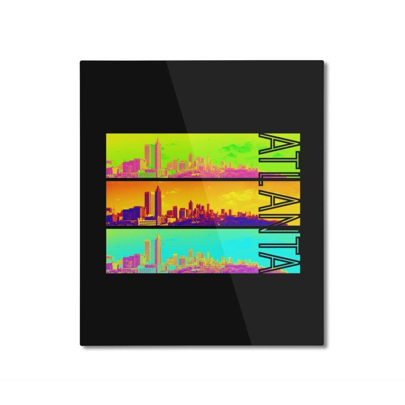 Atlanta colors Home Mounted Aluminum Print by Andrea Garrido V - Shop