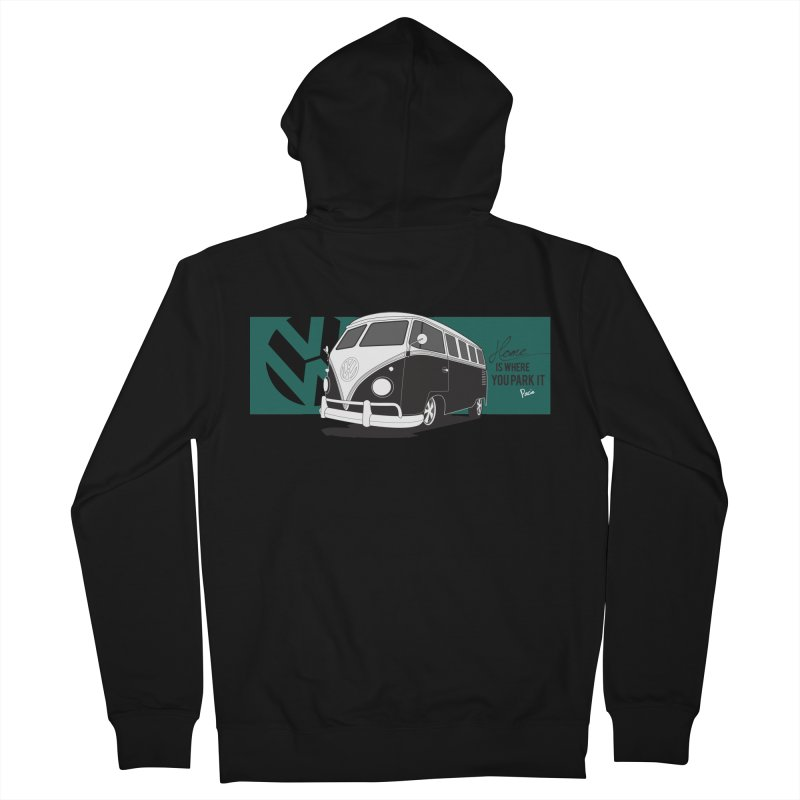 Home Is Where You Park It Men's Zip-Up Hoody by Andrea Pacini