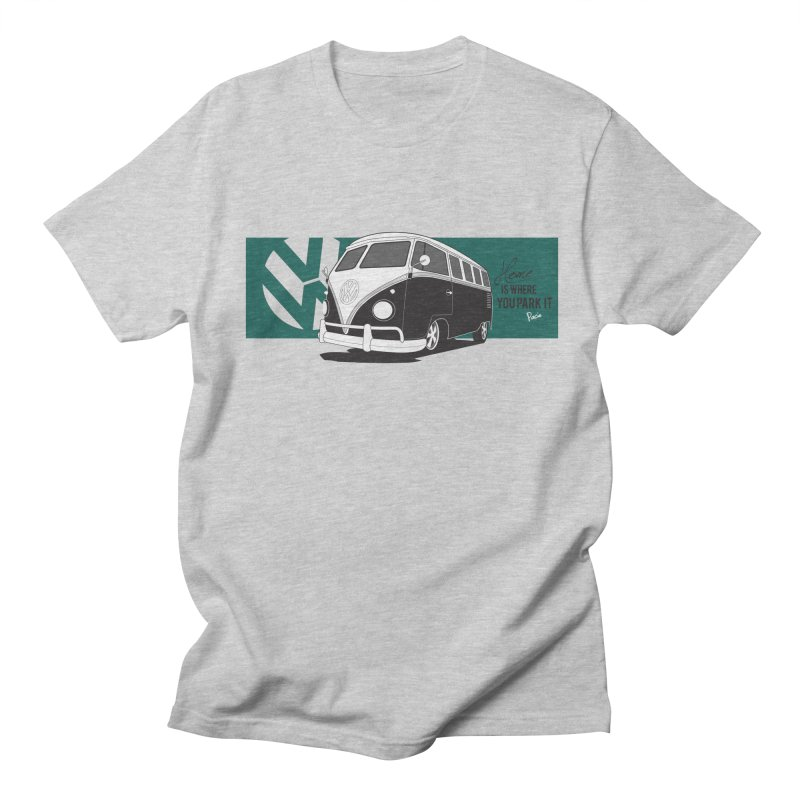 Home Is Where You Park It in Men's Regular T-Shirt Heather Grey by Andrea Pacini