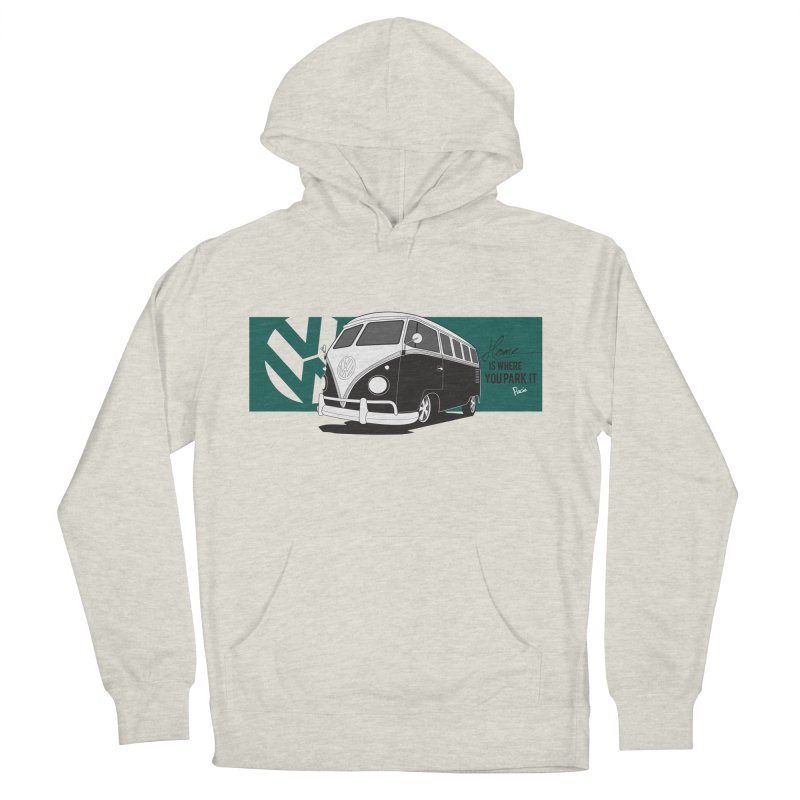 Home Is Where You Park It Women's French Terry Pullover Hoody by Andrea Pacini