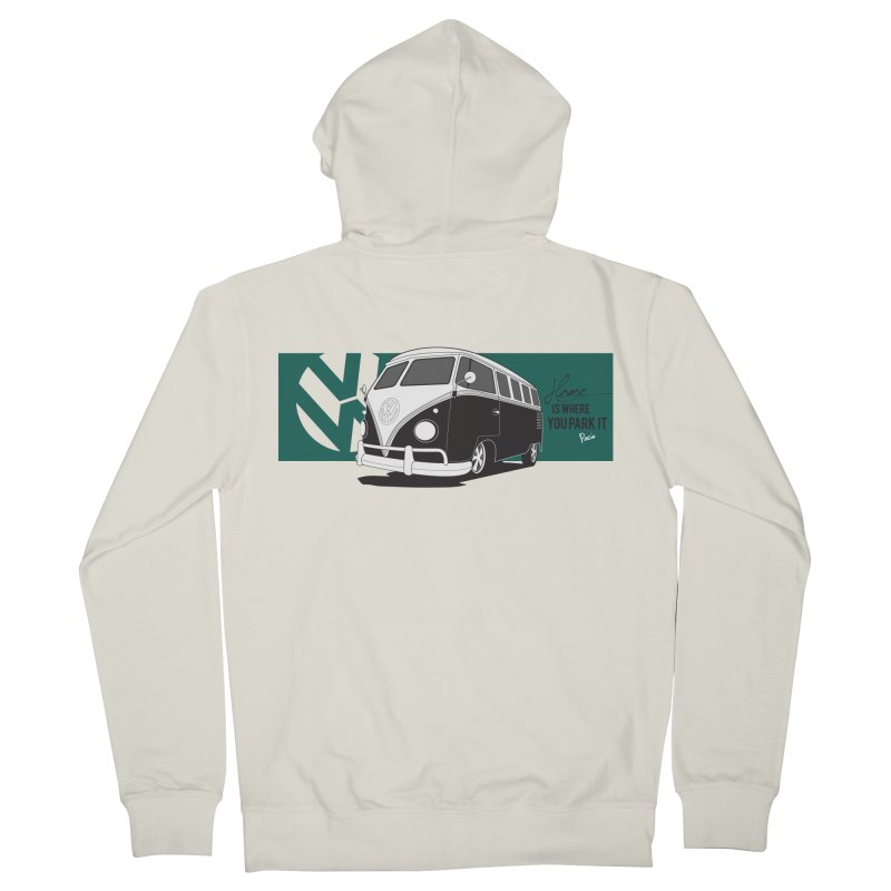 Home Is Where You Park It Women's Zip-Up Hoody by Andrea Pacini