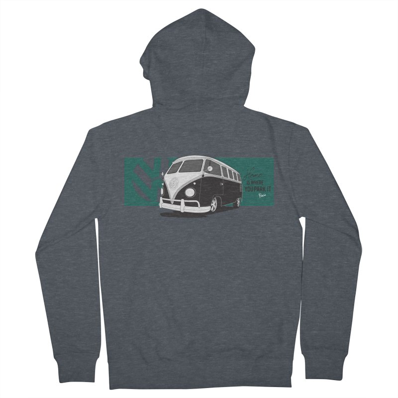 Home Is Where You Park It Men's French Terry Zip-Up Hoody by Andrea Pacini