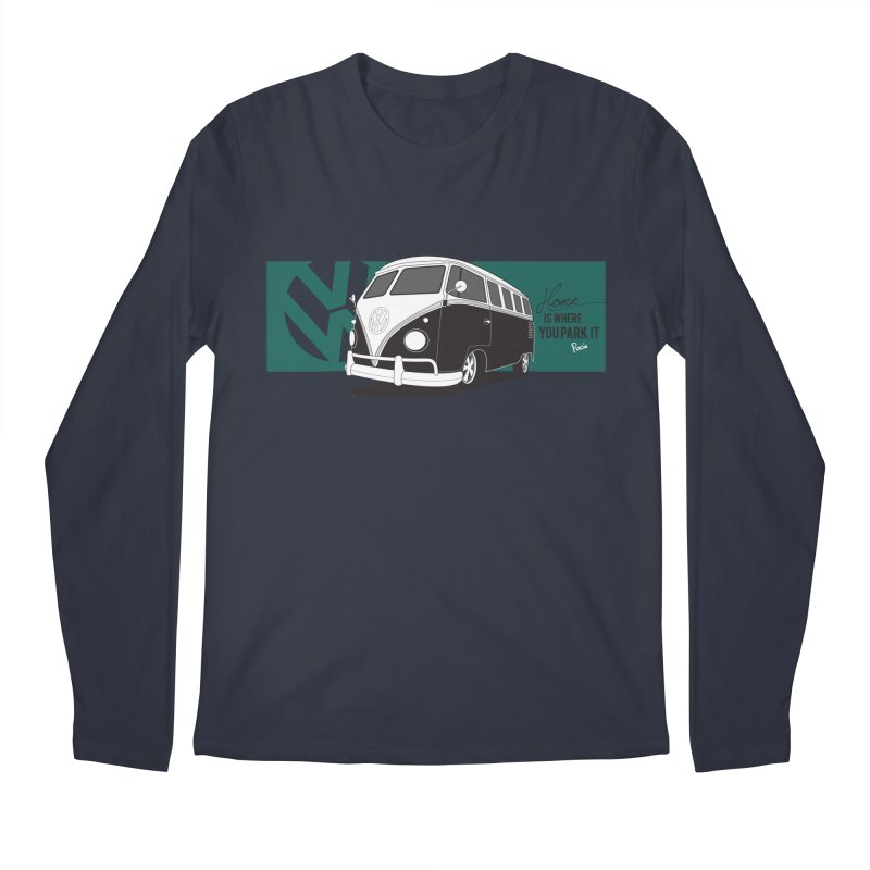 Home Is Where You Park It Men's Regular Longsleeve T-Shirt by Andrea Pacini