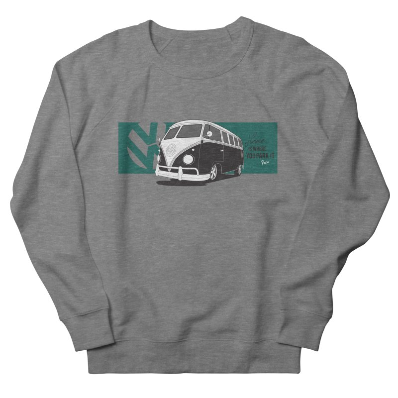 Home Is Where You Park It Men's French Terry Sweatshirt by Andrea Pacini