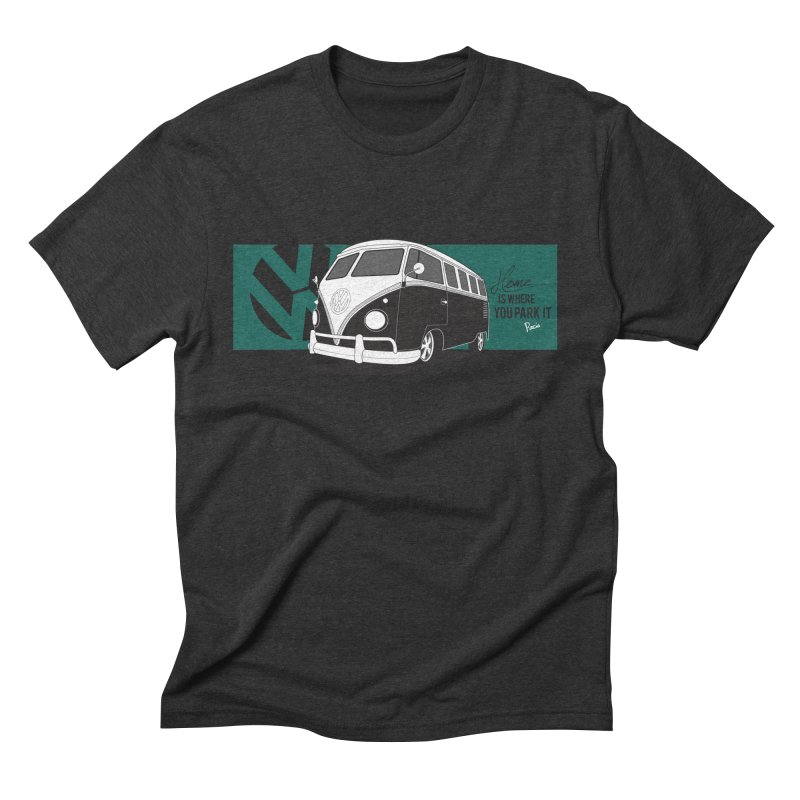 Home Is Where You Park It Men's Triblend T-Shirt by Andrea Pacini