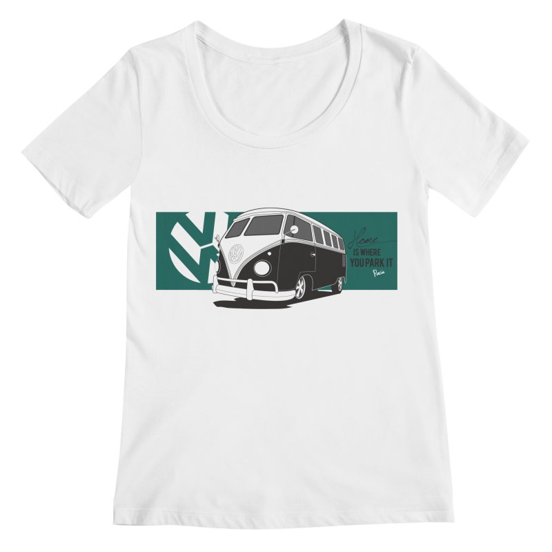 Home Is Where You Park It Women's Scoopneck by Andrea Pacini