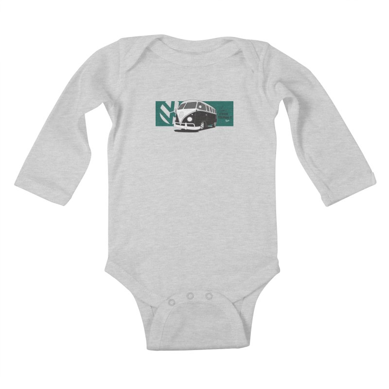 Home Is Where You Park It Kids Baby Longsleeve Bodysuit by Andrea Pacini