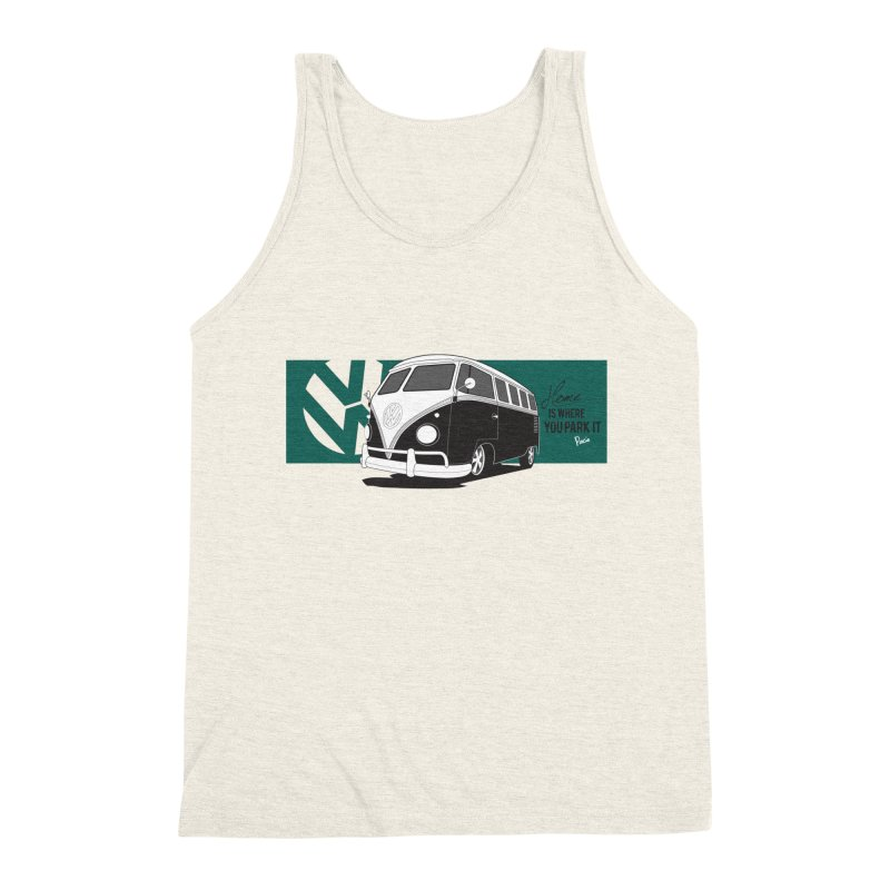 Home Is Where You Park It Men's Triblend Tank by Andrea Pacini