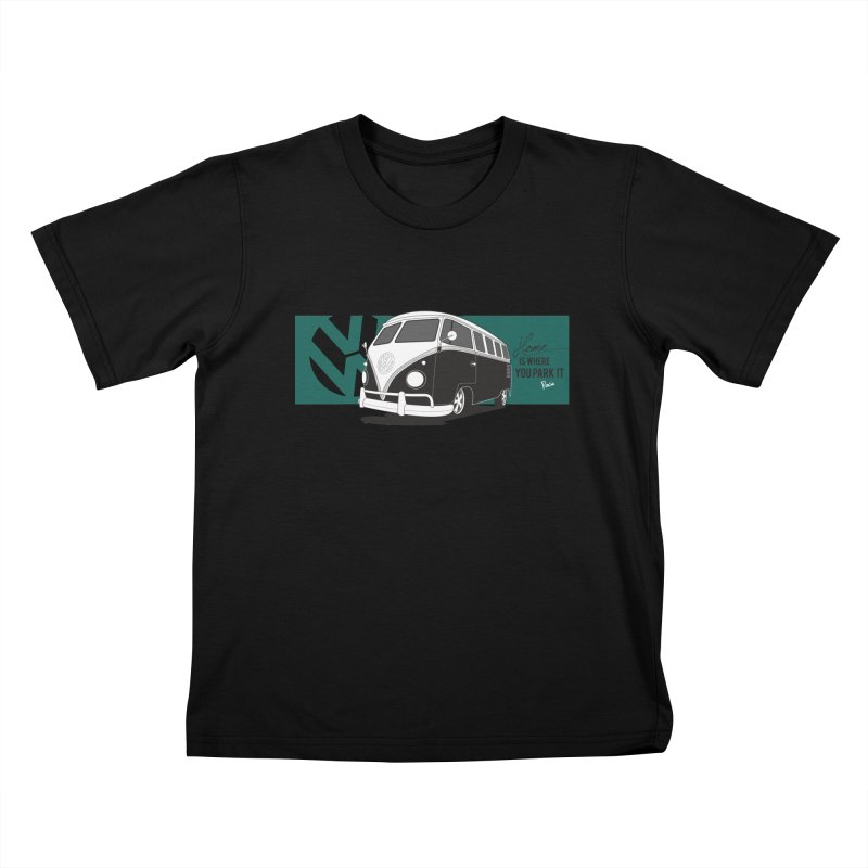 Home Is Where You Park It Kids T-Shirt by Andrea Pacini