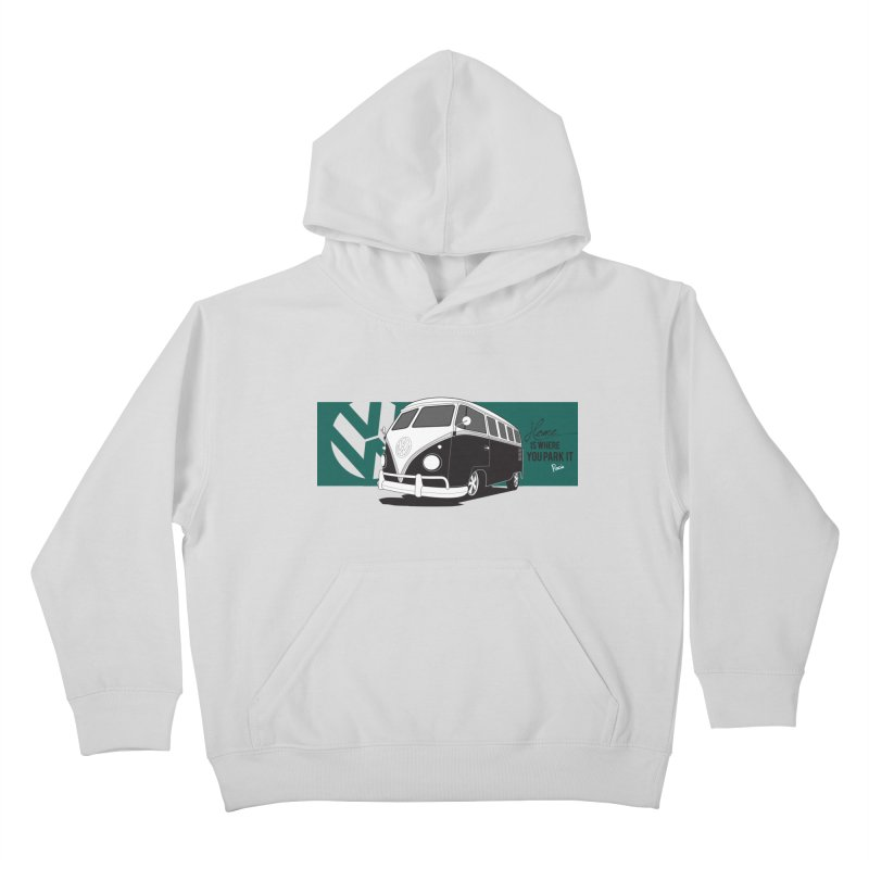 Home Is Where You Park It Kids Pullover Hoody by Andrea Pacini