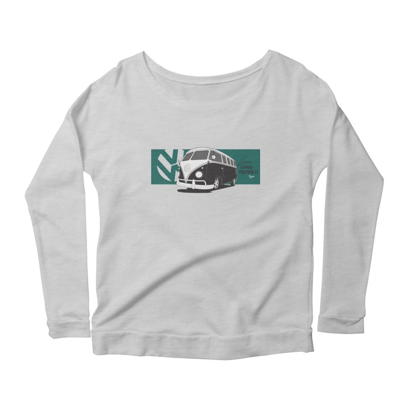 Home Is Where You Park It Women's Longsleeve Scoopneck  by Andrea Pacini