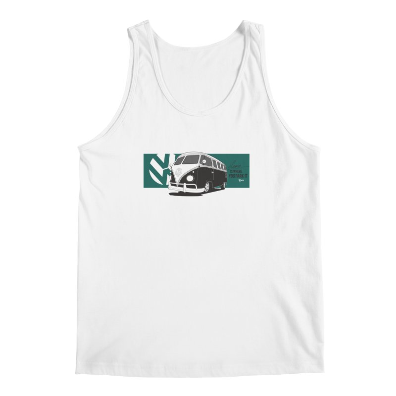 Home Is Where You Park It Men's Regular Tank by Andrea Pacini