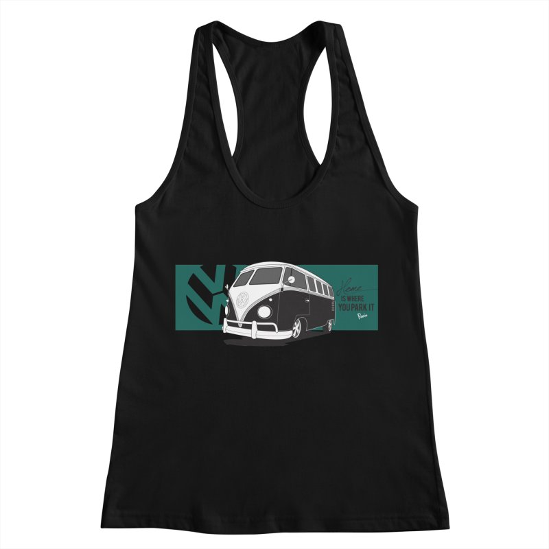 Home Is Where You Park It Women's Racerback Tank by Andrea Pacini