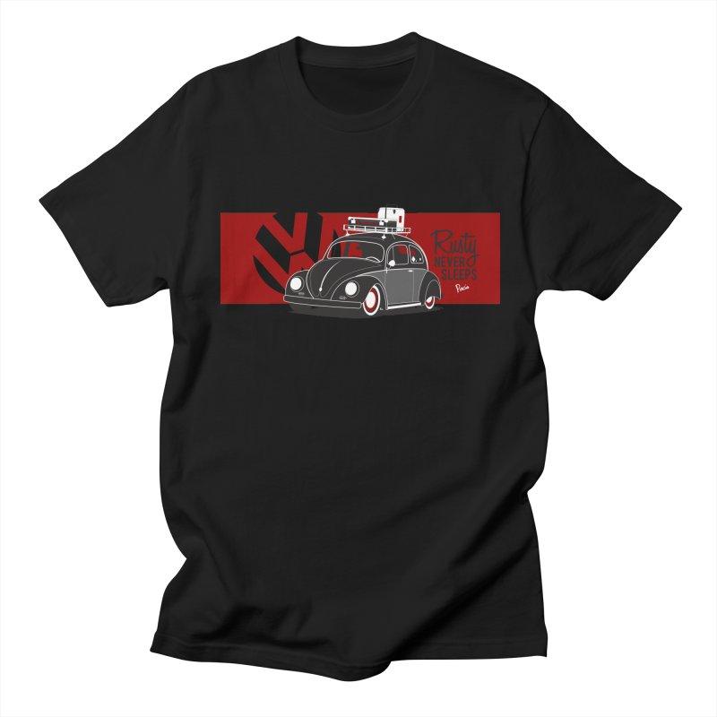 Rusty Never Sleeps Men's T-Shirt by Andrea Pacini