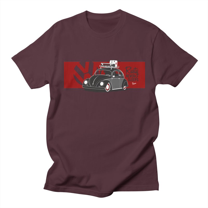 Rusty Never Sleeps Men's Regular T-Shirt by Andrea Pacini