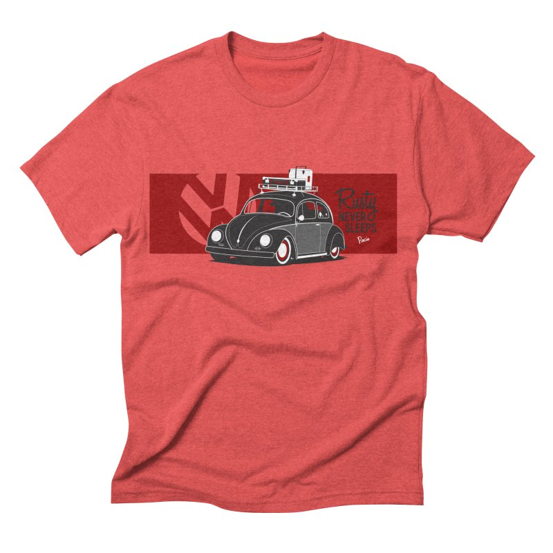 Rusty Never Sleeps Men's Triblend T-shirt by Andrea Pacini
