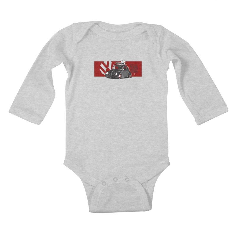 Rusty Never Sleeps Kids Baby Longsleeve Bodysuit by Andrea Pacini