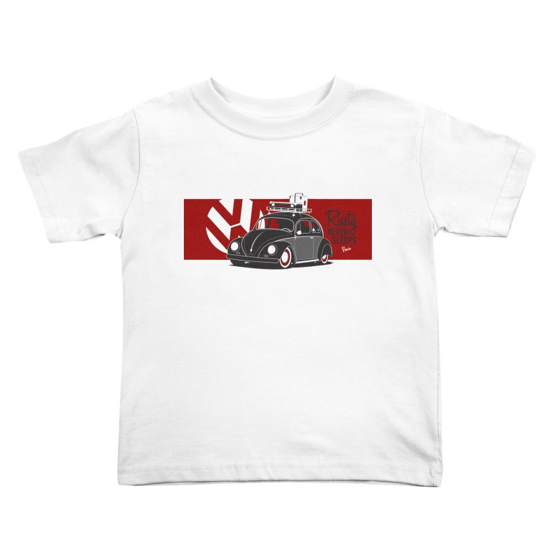 Rusty Never Sleeps Kids Toddler T-Shirt by Andrea Pacini