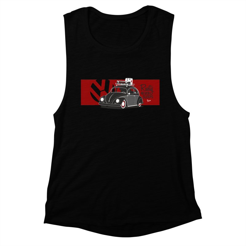 Rusty Never Sleeps Women's Muscle Tank by Andrea Pacini